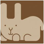 Icône de lapin — Vecteur