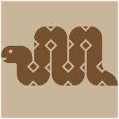 Icône de serpent — Vecteur