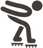 Roller skates icon — Stock Vector