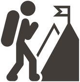 Mountaineering icon — Stock Vector