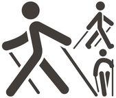 Nordic Walking icons — Stock Vector