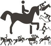 Equestrian icon — Stock Vector