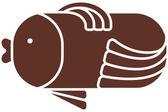 Icône de poisson — Vecteur