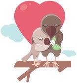 Love birds — Vetor de Stock