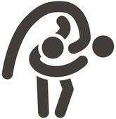 Wrestling freestyle icon — Stock Vector