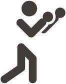 Icono del boxeo — Vector de stock
