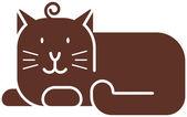 Icône de chat — Vecteur
