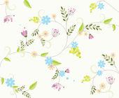 Весенние цветы фон — Cтоковый вектор