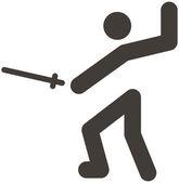ícone de esgrima — Vetor de Stock