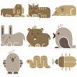 Zoo animals icons — Stock Vector #72133715
