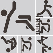 Parkour icons — Stock Vector