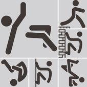 Parkour icons — Cтоковый вектор