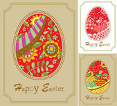 Three easter card — Stockvector