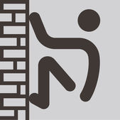 Parkour-pictogram — Stockvector