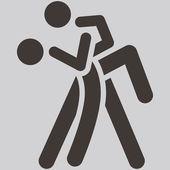 Sport dancing icon — Stock Vector