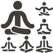 Yoga icons — Stock Vector