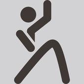 Aerobics icon — Stock Vector
