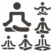 Yoga icons set — Stock Vector
