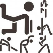 Aerobics icons set — Stock Vector
