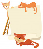 Cats around the frame — Stock Vector