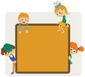 Kids frame notice — Stock Vector