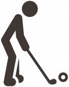 Golf pictogram — Stockvector