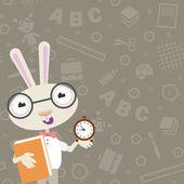 Rabbit school — Stock Vector