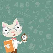 Scientist cat — Stock Vector