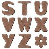 Alfabet notatnik brązowy — Wektor stockowy