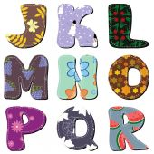 Scrapbook colorful alphabet — Vettoriale Stock