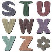 Scrapbook colorful alphabet — Stock Vector