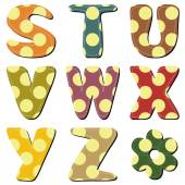 Scrapbook alphabet with dots — Stock Vector