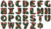 Scrapbook alphabet with strawberry — Stock Vector