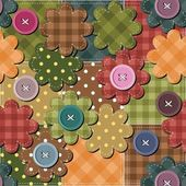 Background with flowers and buttons — ストックベクタ