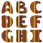 Scrapbook alphabet — Stock Vector