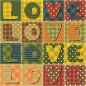 Scrapbook love words — Stock Vector