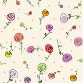 Semana santa rosas de patrones sin fisuras — Vector de stock