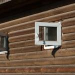 Windows on wooden house — Stock Photo #59174517