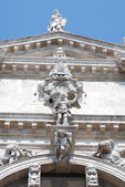 Facade of the Catholic temple in Venice. — Stock Photo