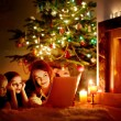 Mother and  daughters on Christmas — Stock Photo #52801681