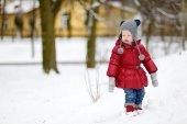 Chica en día de invierno — Foto de Stock