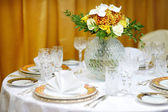 Wedding party table set — 图库照片