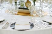 Ślubna Strona tabela zestaw — Zdjęcie stockowe