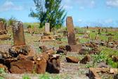 Old chinese grave headstones — Zdjęcie stockowe