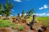 Old chinese grave headstones — Stock Photo
