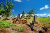 Old chinese grave headstones — ストック写真