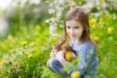 Adorable little girl easter bunnies — Stock Photo