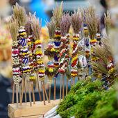 Lithuanian Easter decorative palm bouquets — Foto de Stock