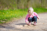 Adorable girl in  summer day — Stock Photo