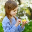 Little girl with Easter egg — Stock Photo #63421197